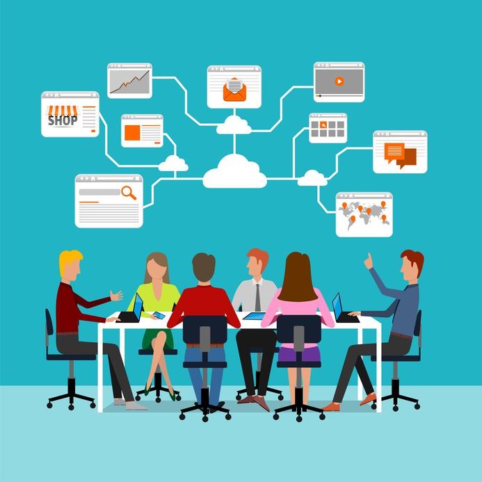 Décideurs en réunion, risque entreprise, assurance entreprise, assurance des dirigeants d'une entreprise